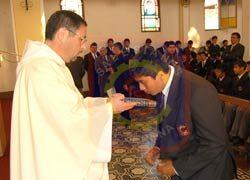 Recepción de alumnos nuevos en la presencia de La Serena