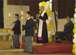 Mons. Ignacio Ducasse presidió Pascueta en el Instituto Salesiano de Valdivia