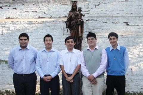Cinco jóvenes inician experiencia del Aspirantado