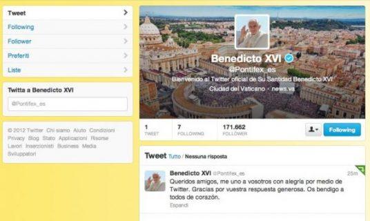 El primer tuiteo del Santo Padre