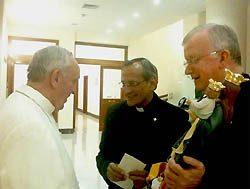El Rector Mayor y su Vicario con el Papa