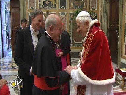 Cardenal Errázuriz evoca las últimas horas de Pontificado de Benedicto XVI