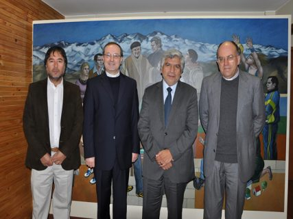 Visita autoridades Pontificia Salesiana de Roma