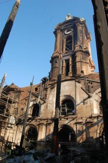 Obispo Duarte lamenta incendio de la Iglesia San Francisco