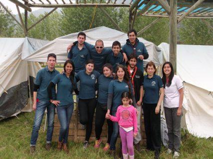Estudiantes de Kinesiología colaboraron con Encuentro Nacional Scouts Salesianos