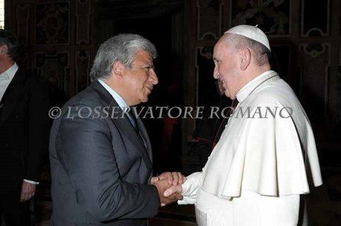 Rector expuso en Asamblea de la Congregación para la Educación Católica y asistió a audiencia con el Papa