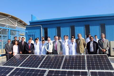 Visita del Ministro de Energía a la planta fotovoltaica salesiana de Antofagasta