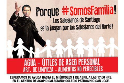 Súmate a la campaña solidaria de la Familia Salesiana de Santiago en ayuda de Copiapó