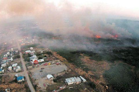 Incendios forestales alteran inicio de año en el colegio de Puerto Montt