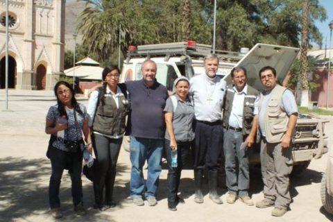 Obispo presidente de Caritas Chile visita valle de Copiapó