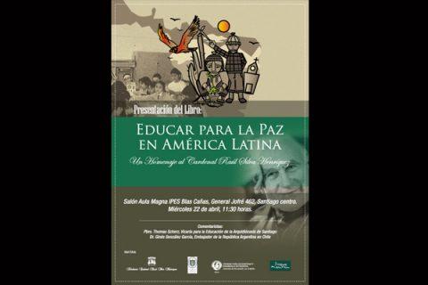 """UCSH presentará libro """"Educar para la paz en América Latica"""""""