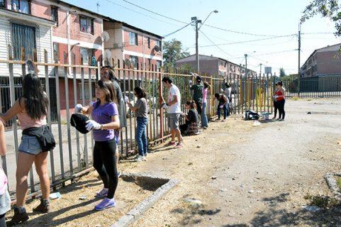 Alumnos de la UCSH llevaron compromiso y alegría a niños de La Pintana