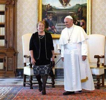 Audiencia del papa Francisco con la Presidenta Michelle Bachelet