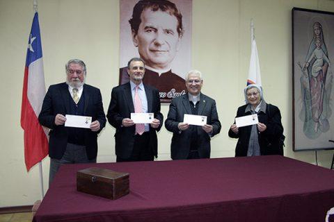 Matasello en honor a Don Bosco, signo grabado en el caminar de la historia