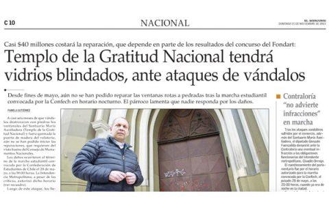 Avances en la restauración del Santuario María Auxiliadora de Santiago Centro