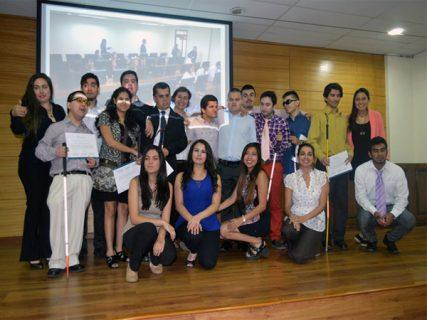 Ceremonia de certificación a personas en situación de discapacidad