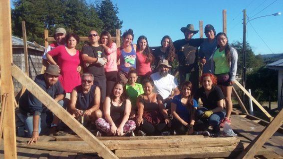 Trabajos voluntarios en Paildad – Chiloé. Enero 2016