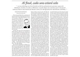 Mons. González se refirió a la votación de la Ley de despenalización del aborto