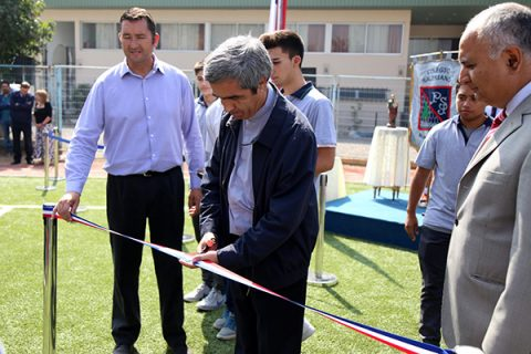 """Inauguración del mejorado """"Campo Deportivo Don Bosco"""" en el PSJ"""