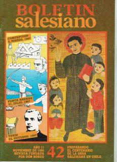 """Boletín Salesiano Nº42 """"Preparando el Centenario de la Obra Salesiana en Chile"""""""
