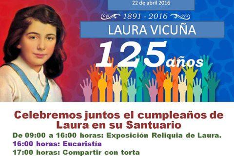Todos invitados: Celebración de los 125 años del nacimiento de Laura Vicuña