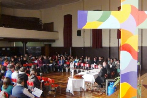 Encuentro de Monseñor Vargas con Profesores de Religión en Temuco