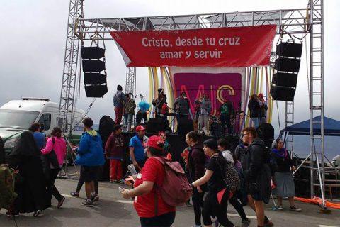MJS animó Estación de la Cruz en peregrinación de Santa Teresa de Los Andes