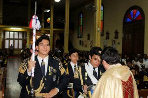 Bendición a la Banda de Honor del Colegio Don Bosco de Iquique
