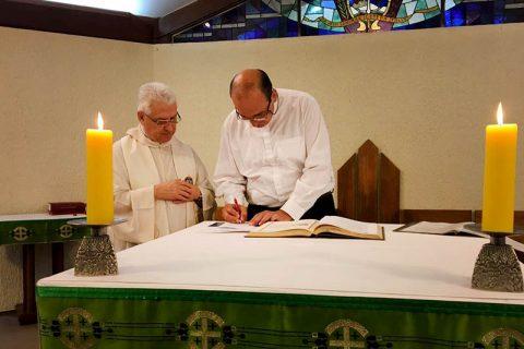 Vicario del Inspector asume como nuevo director del Teologado Internacional de Lo Cañas