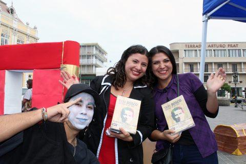 """Semana """"Día del Libro"""": intervención urbana de jóvenes Salesianos en Iquique"""