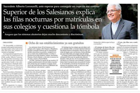 Superior de los Salesianos explica las filas nocturnas por matrículas en sus colegios y cuestiona la tómbola