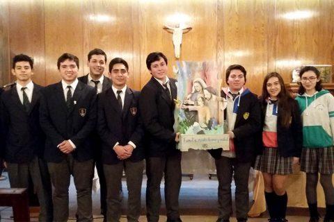 Salesianos Concepción recibió imagen peregrina de la Sagrada Familia