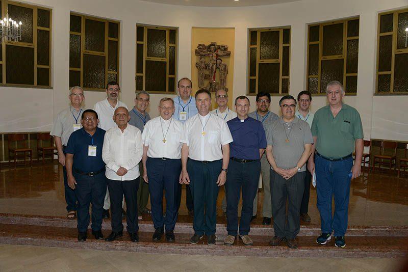 P. Juan Bustamante y P. David Albornoz participan en Encuentro de Secretarios Inspectoriales en Roma