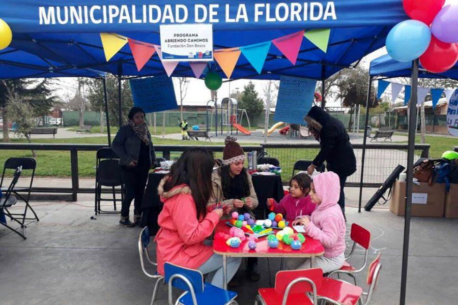 Fundación Don Bosco participa en Feria de Servicios 'Chile Crece Contigo' de La Florida