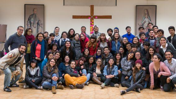 MJS preparándose para la peregrinación al Santuario de los Andes