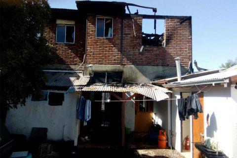 Incendio destruye casa del Albergue Miguel Magone