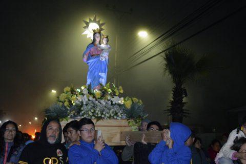 María Auxiliadora sale a las calles de Alto Hospicio