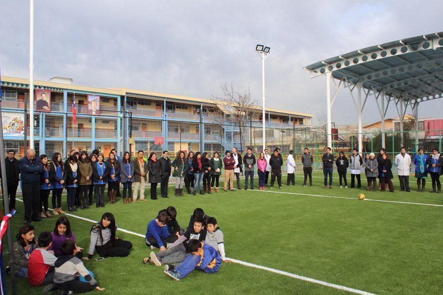 Inauguración espacios deportivos colegio Domingo Savio