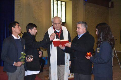 P. Guillermo Basañes visitó comunidad salesiana de Catemu