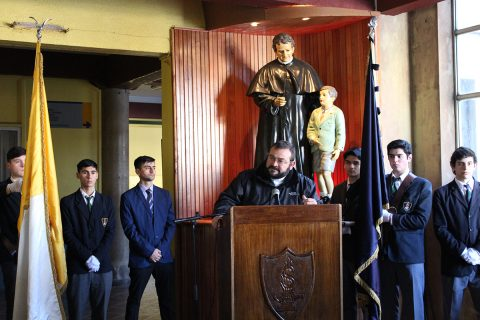 P. Carlo Lira visitó Colegio Salesiano de Concepción