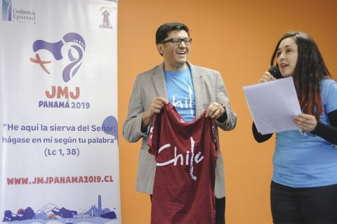 Polera oficial peregrinos chilenos JMJ Panamá