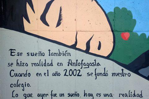 Mural del sueño de los nueve años de Don Bosco en Antofagasta