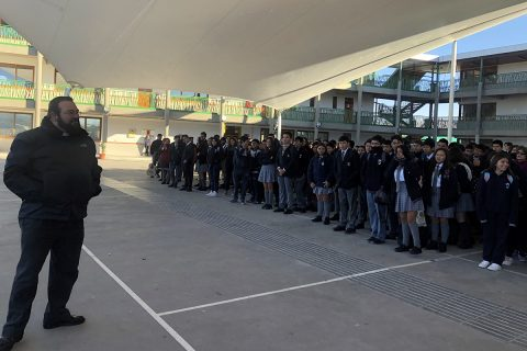 P. Carlo Lira visitó Colegio Don Bosco de Calama