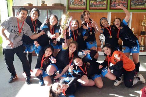 Liceo Salesiano Monseñor Fagnano campeón regional en fútbol damas sub 14