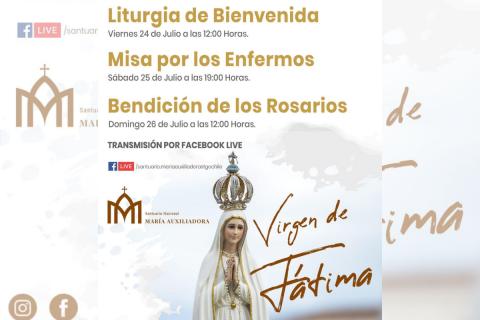 Visita de Nuestra Señora de Fátima a Santuario María Auxiliadora de Santiago