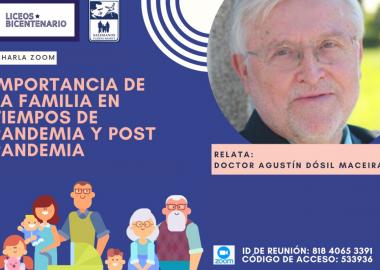 Charla online: importancia de la familia en tiempos de pandemia y post pandemia