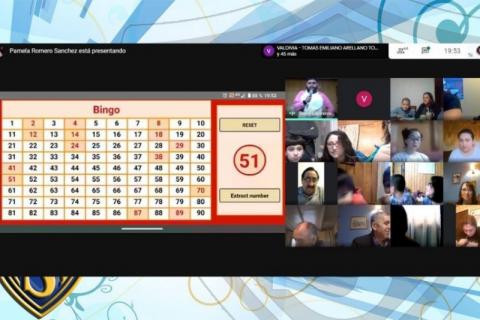 Bingo Familiar Virtual en Instituto Salesiano de Valdivia
