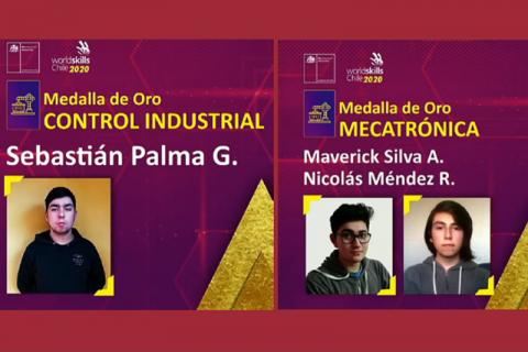 Alumnos salesianos obtuvieron medalla de oro en Olimpiadas de Habilidades Técnicas Worldskills Chile