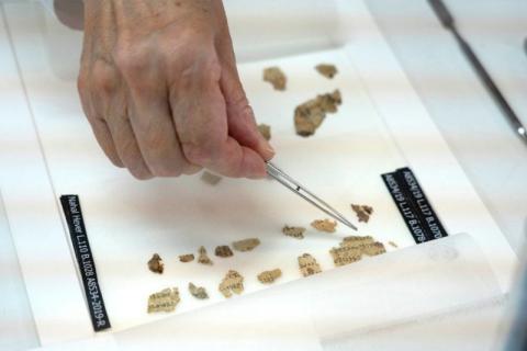 Fragmentos bíblicos hallados en Israel