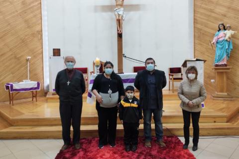 Bendición a padres y alumnos nuevos en Liceo San José